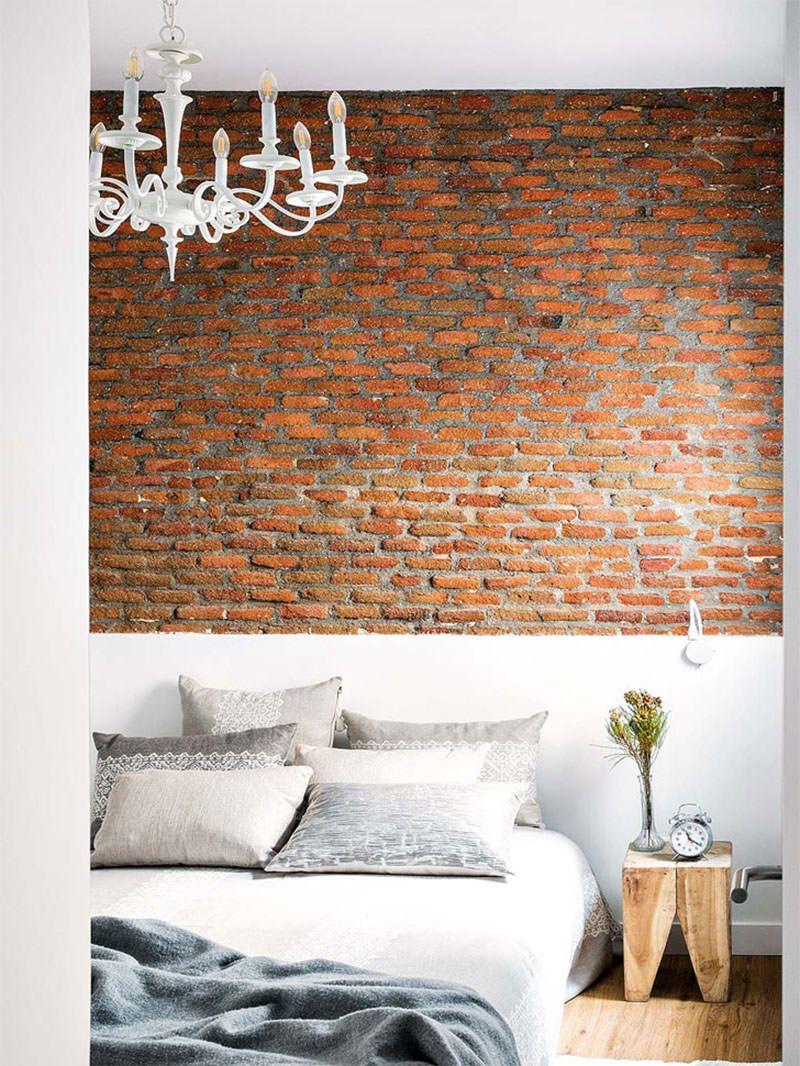 Charmoso Apartamento Pequeno Acolhedor E Tem Decora O Com Aura  ~ Parede De Tijolinho No Quarto E Modelos De Quarto Pequeno
