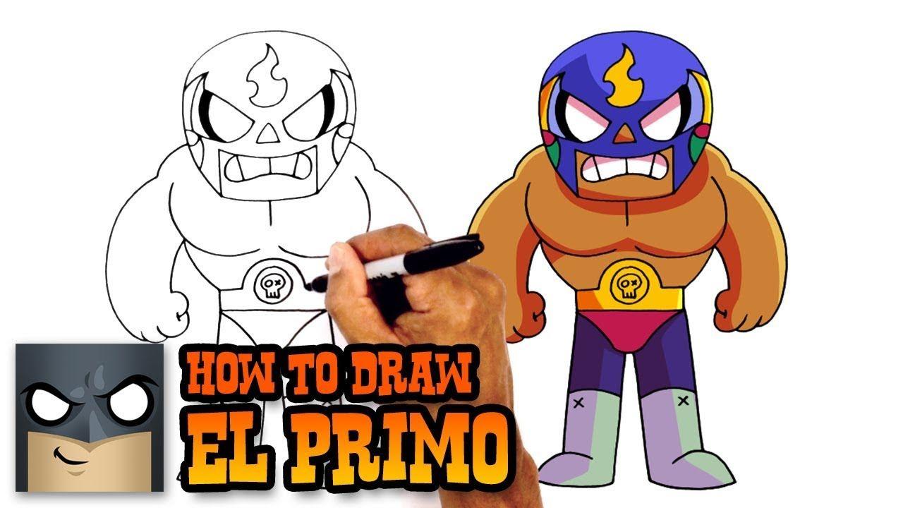 How To Draw El Primo Brawl Stars Youtube Malen