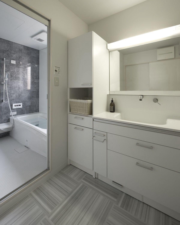ミサワホームイングデザインリフォーム 戸建の浴室と洗面所の