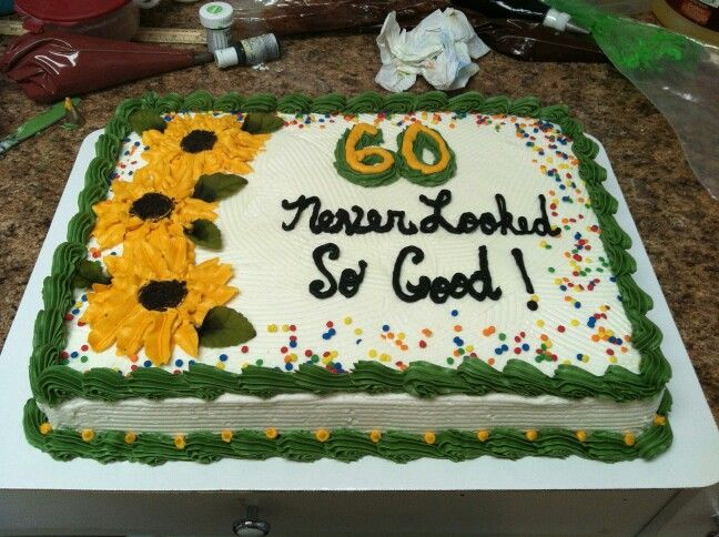 Half Sheet Cake Black Eyed Susans 60th Cakes And Confections 4us