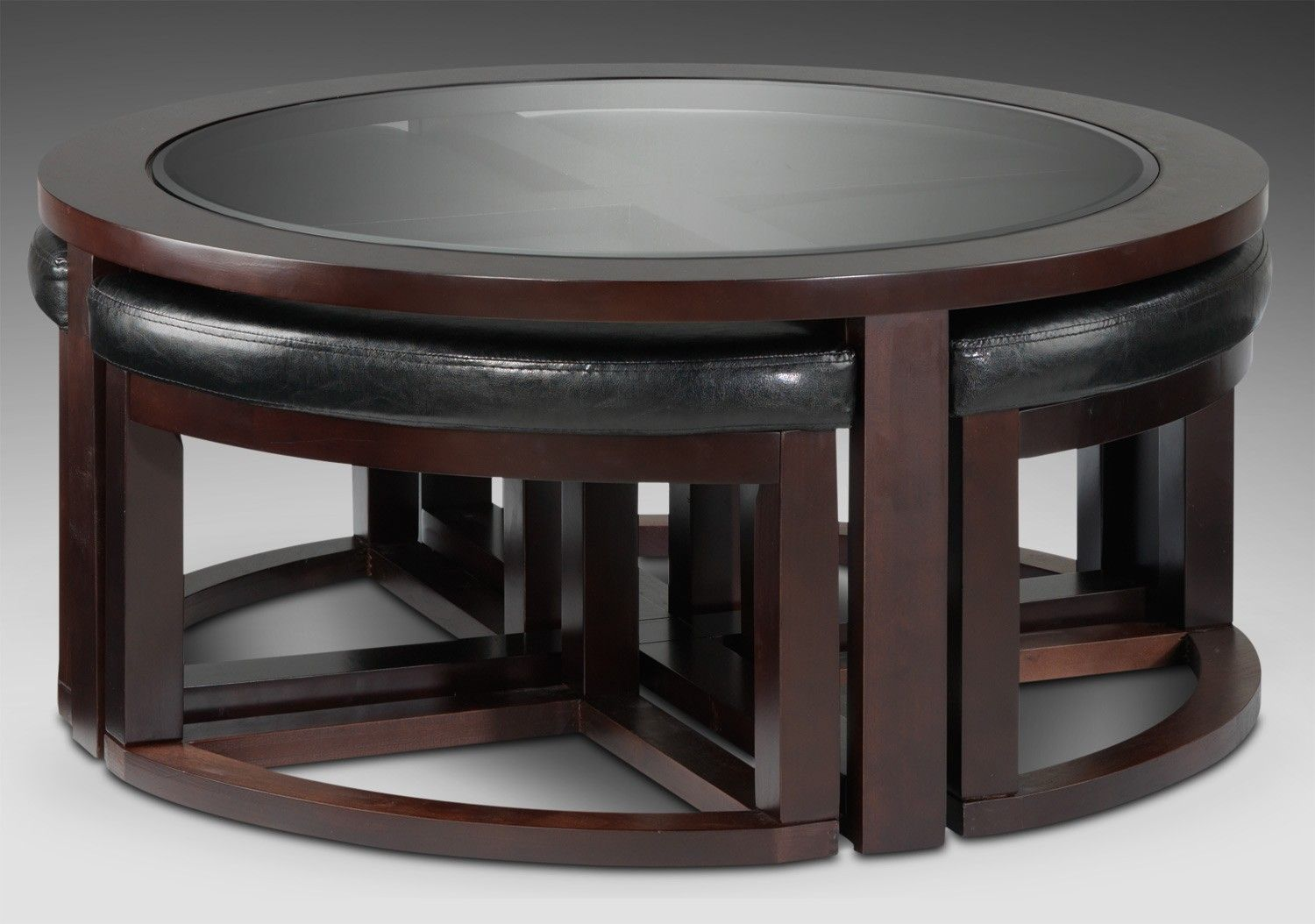 Emma Occasional Tables Cocktail Table W 4 Ottomans Leon S
