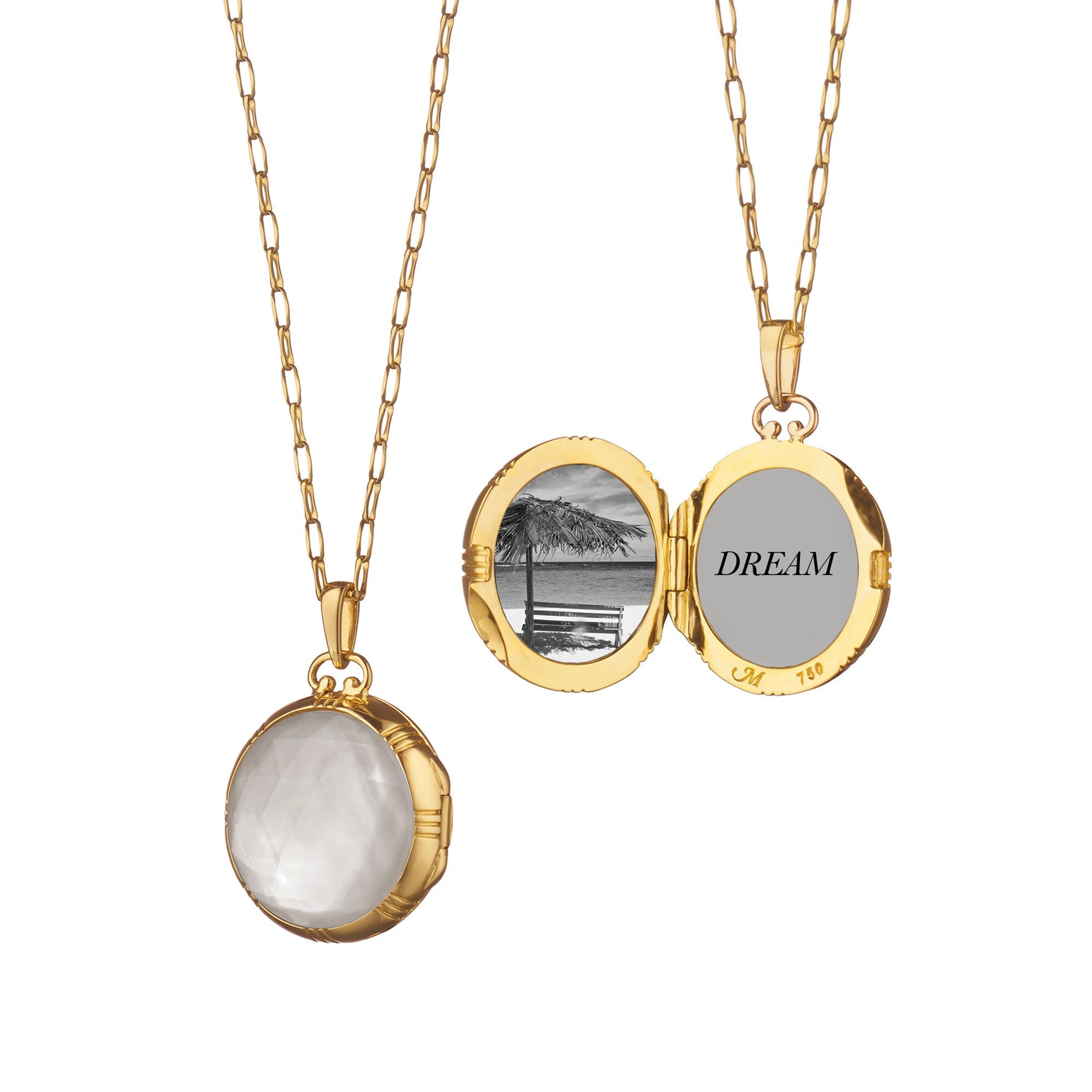 chupi one lockets necklace products initial exclusive disc with silver