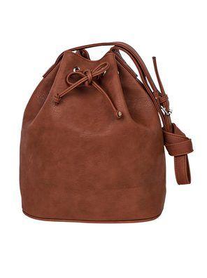 f284522bb Bolsa feminina hering tipo saco em material sintético na cor marrom em  tamanho UNI. Versátil