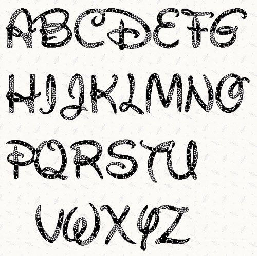 image relating to Fonts Printable called Disney Font Artsy elements Letter stencils, Printable