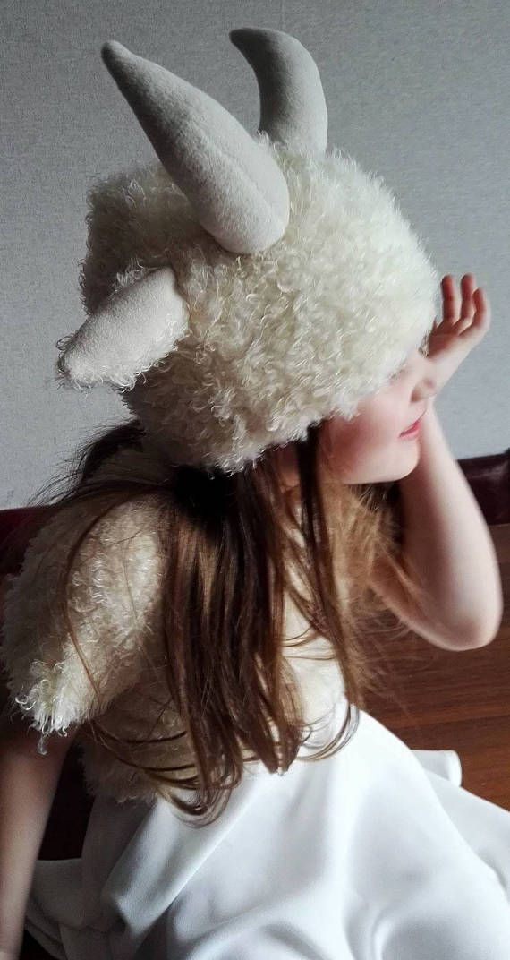 Goat girl costume Goat dress Goat hat Kids goat Costume goat dress up   handmade costume cedd6a242