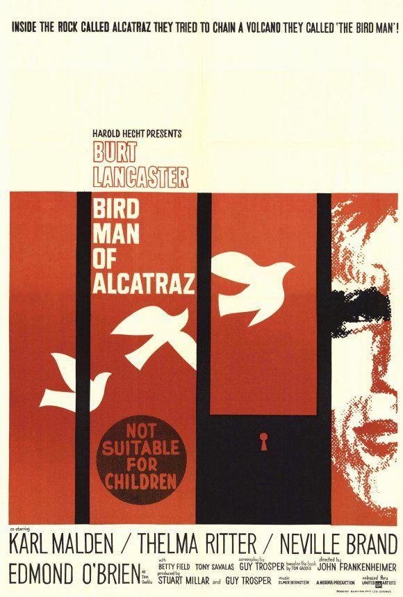 The Bird Man Of Alcatraz Poster Saul Bass Birdman