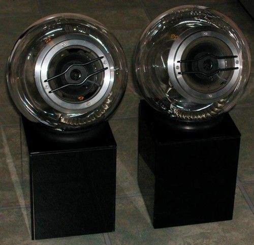 Pair Japanese Space Age Glass Speakers ( EBay ) (With