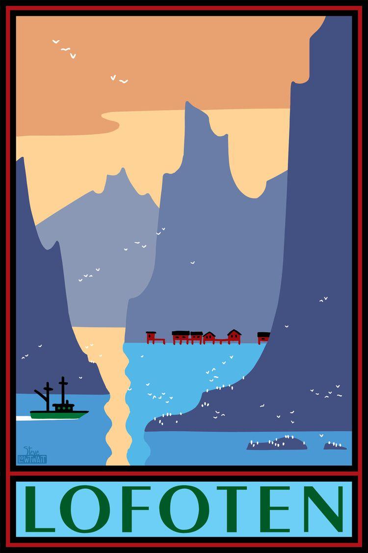 Lofoten Norvege Norge Norway Plakater Rejser Eventyr