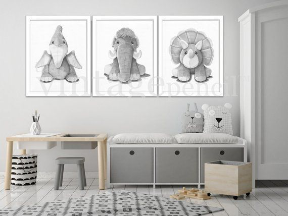 Dinosaur Art, Dinosaur Print, Boys Wall Art, Dinosaur Decor, Boy Nursery Set, Boys Room, Dinosaur Art Print, Dinosaur Drawings. Dinosaur, ,