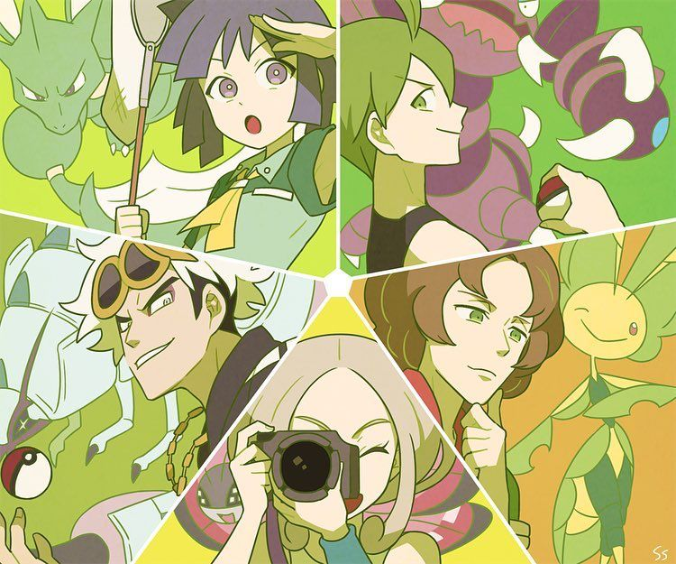 Bug Type Trainers And Gym Leaders Pokemon
