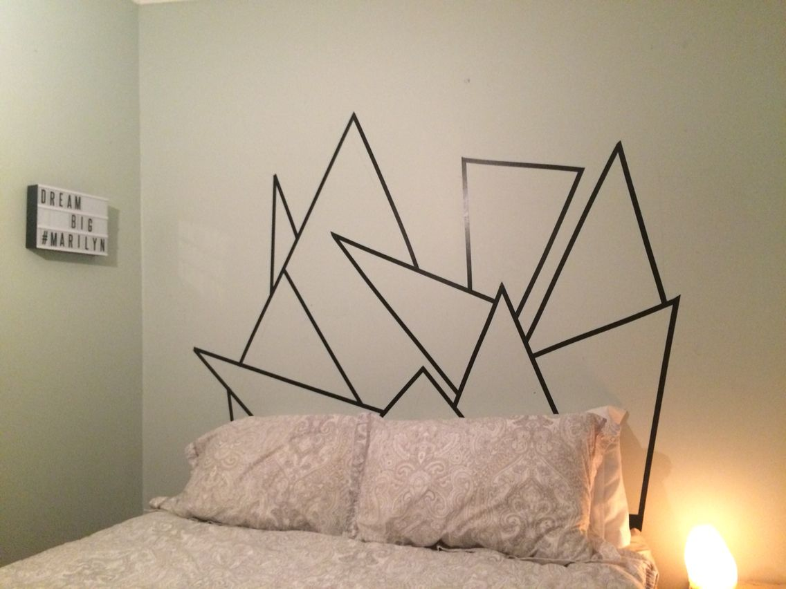 Washi tape headboard but use different colors possible for Different headboards
