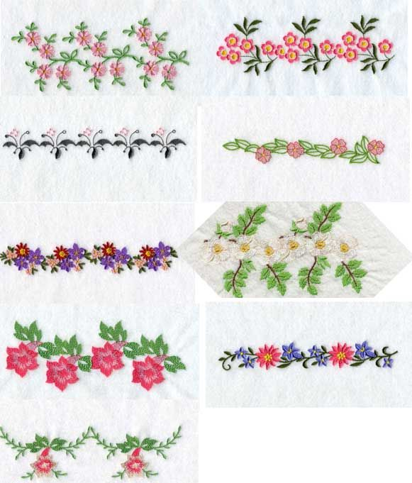 Machine Embroidery Machine Embroidery Designs Floral Endless