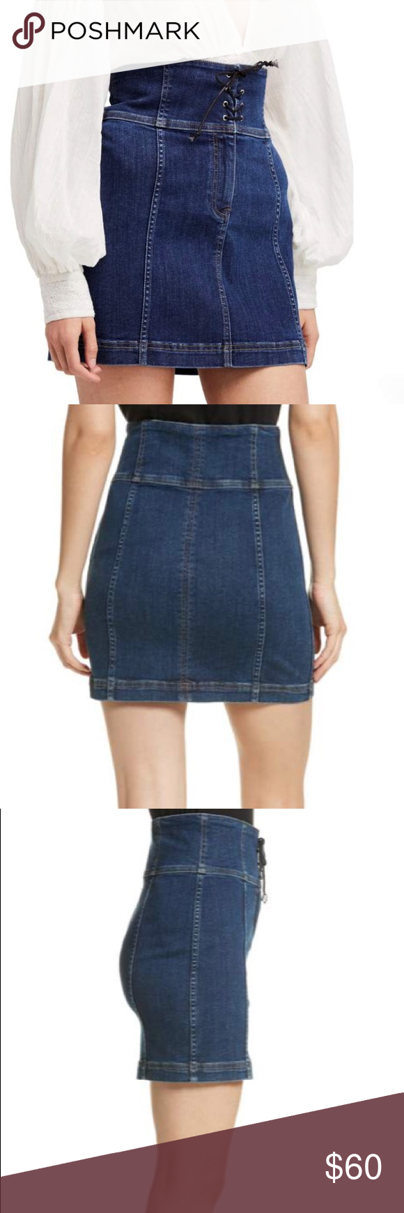 fd931639bc5 Free People Modern Femme Corset Denim Skirt NWT. No trades. Those  Victorians knew a