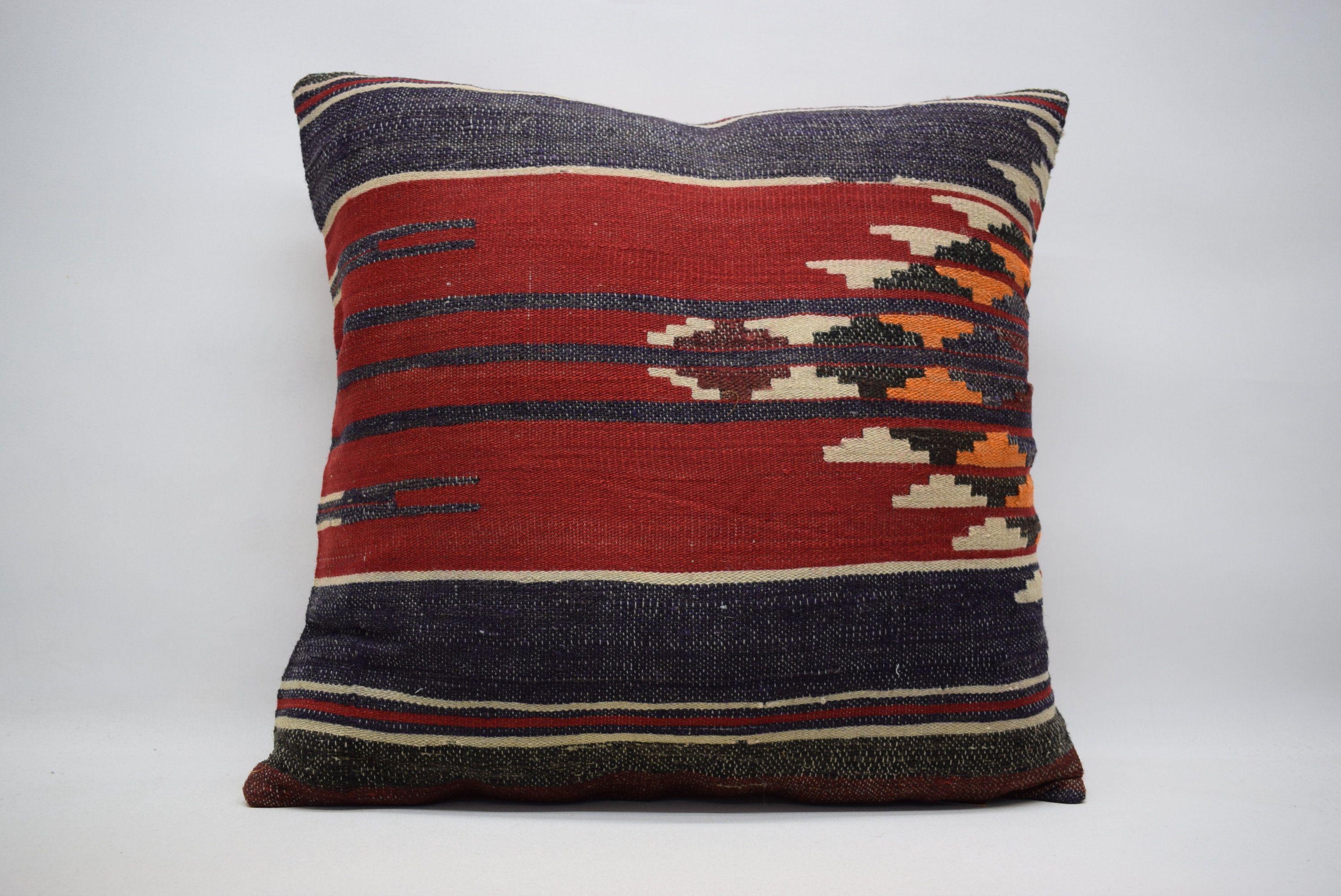 naturel pillow / floor pillow / decorative kilim pillow / 24x24 boho pillow  / home decor kelim cushion / kilim pillows / wool pillow 0725
