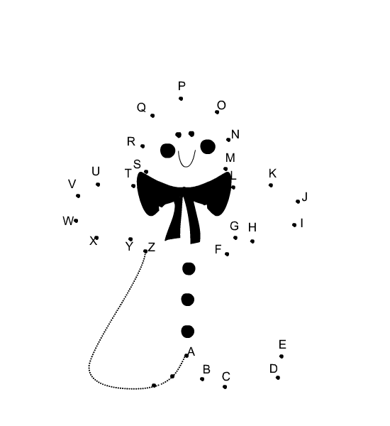 picture regarding Abc Dot to Dot Printable identified as absolutely free printable alphabet dot in direction of dot for xmas Absolutely free