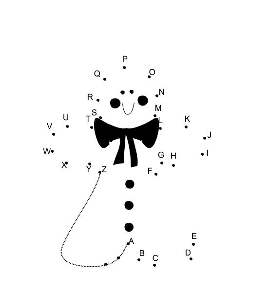 free printable alphabet dot to dot for christmas  Free Printable