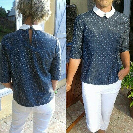 Blouse bianca patron gratuit de wear lemonade   costura   Pinterest