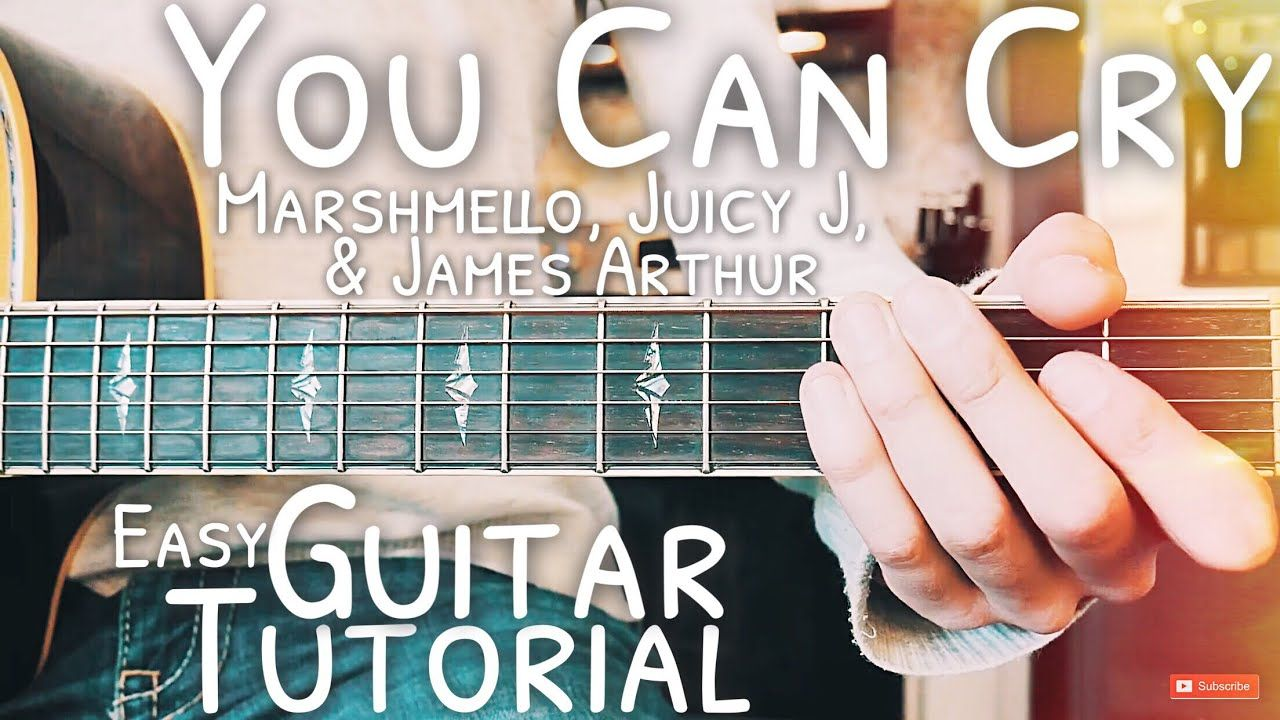 You Can Cry Marshmello Guitar Tutorial You Can Cry Guitar Lesson 481 Guitar Tutorial Guitar Lessons For Beginners Online Guitar Lessons