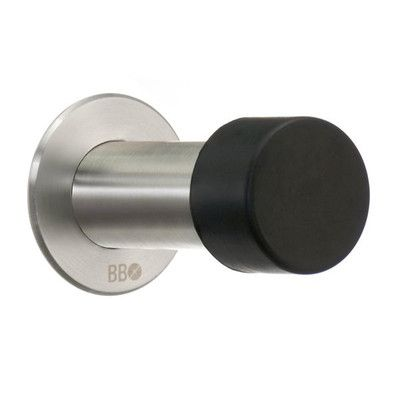Smedbo Beslagsboden Stainless Steel Baseboard Stop Finish: Brushed Stainless Steel