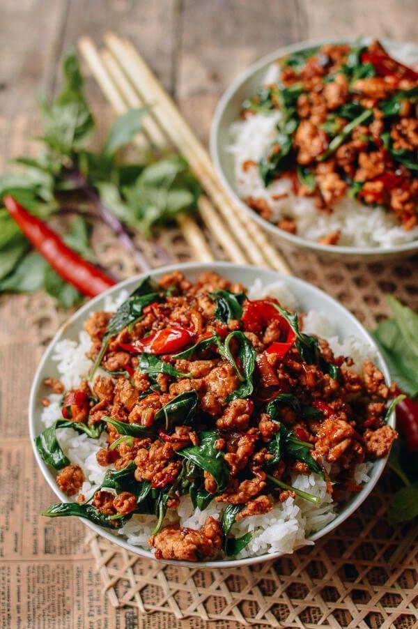 10-Minute Thai Basil Chicken (Easy Gai Pad Krapow) #thaifoodrecipes