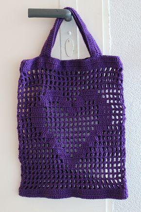 Photo of Häkelanleitung für eine Einkaufstasche mit Herz von Ars Vera