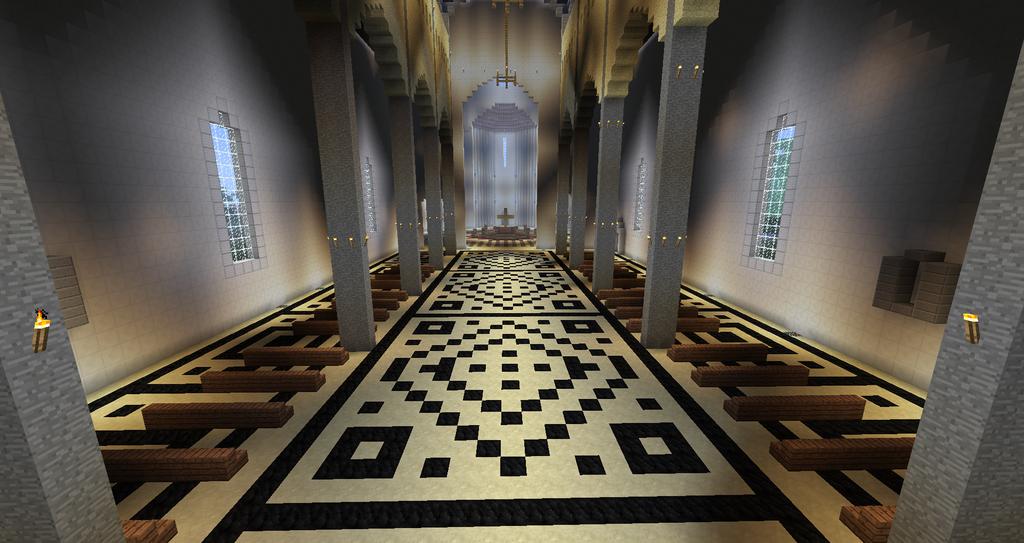 Minecraft Florence Cathedral Interior By Minecraftarchitect90 Deviantart Com On Devianta Minecraft Floor Designs Minecraft Interior Design Minecraft Designs