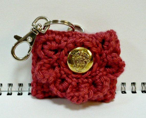 5ac8c981d Coin Purse Key Chain Crochet Small Pouch Change by MelbaShoppe. $9.00, via  Etsy.