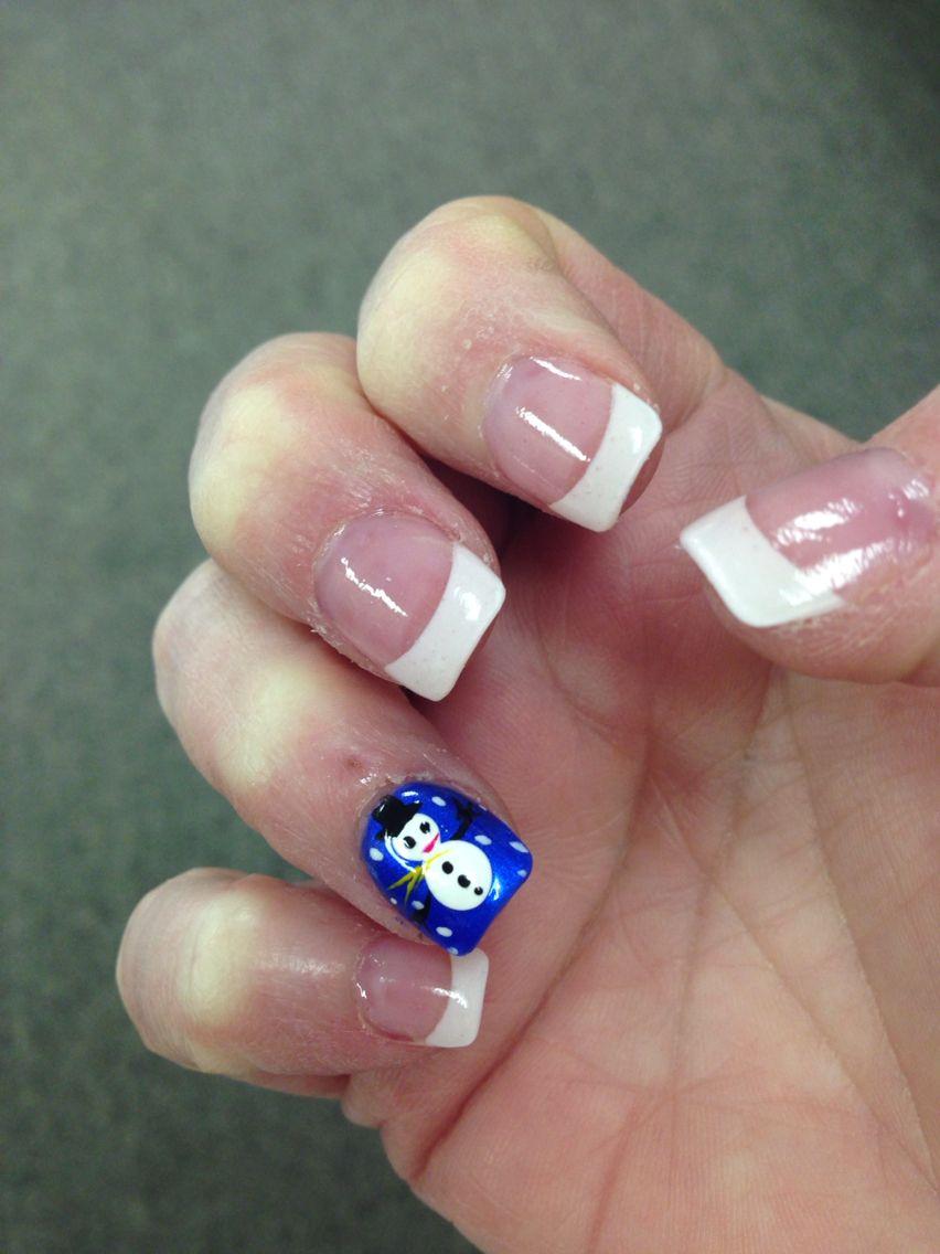 Cute snowman nail design. Nails done by LT Nails Pocahontas AR ...