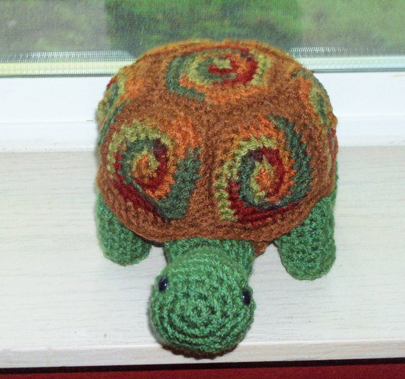 Amigurumi Turtle Doll – Autumn Leaves -Turtle With Removable Shell