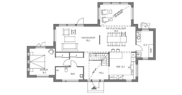 Swedish House No 2 Swedish House House Plans Floor Plans