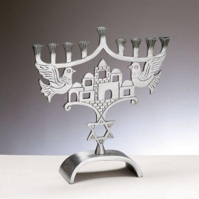 Menorah With Jerusalem And Jewish Star & Menorah With Jerusalem And Jewish Star | Menorahs | Pinterest ...