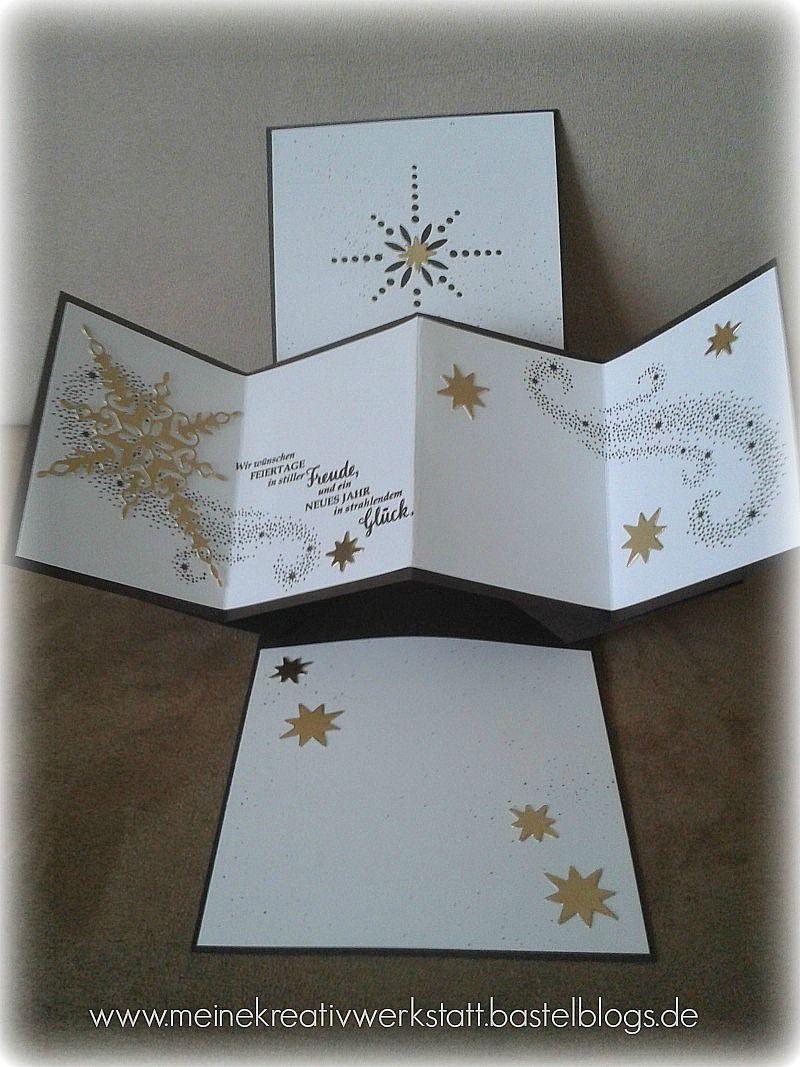 weihnachtliche karte meine karten stampin up pinterest karten weihnachten und stampin. Black Bedroom Furniture Sets. Home Design Ideas