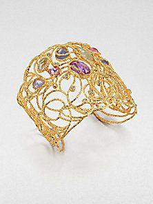 Alexis Bittar - Jeweled Lace Cuff Bracelet