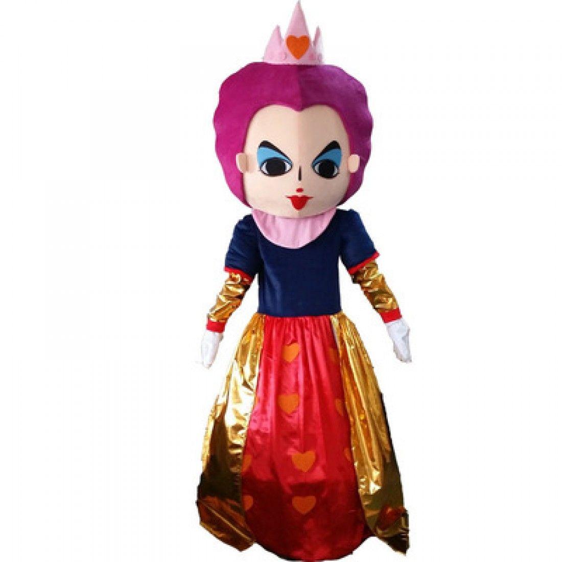Alice in wonderland cosplay costume red queen mascot