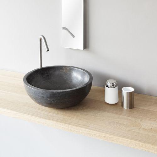 Waskom Alpha, ronde natuurstenen wasbak  badkamer  Pinterest  Badkamer, Zo # Cielo Wasbak_004145