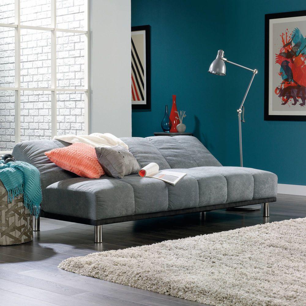Gray Futon Sofa Bed Sleeper Lounge Living Room Convertible ...