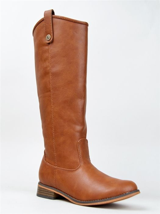 e22a5e5c5 Breckelle's RIDER-18 Knee High Riding Boot at zooshoo.com - Inspired by the  Melissa Button boot by Frye, but $300 less.