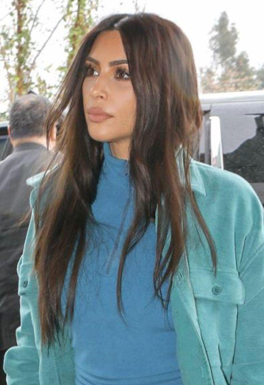 Kim Kardashian hair 2018
