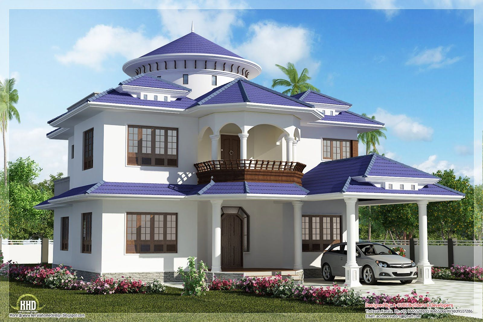 dream house beautiful dream home design in 2800 sqfeet indian home decor - Designs Of Houses