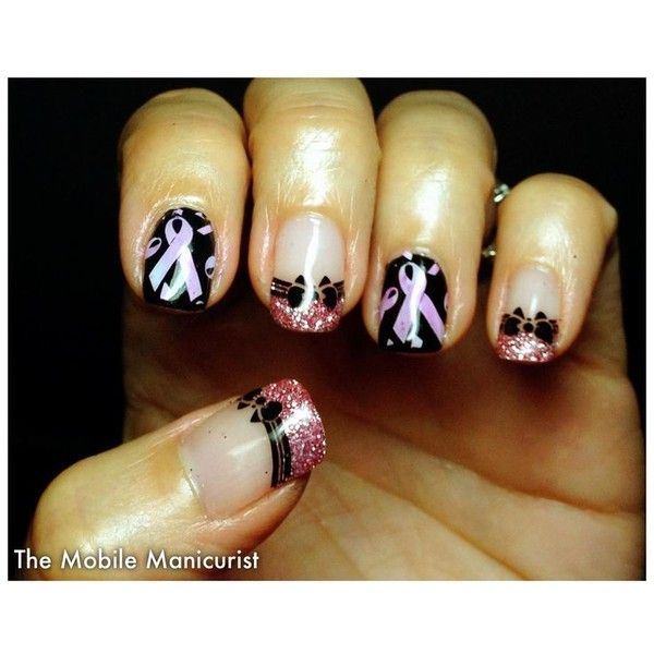 2) Pin by NAILS Magazine on Breast Cancer Awareness Nail Art ...