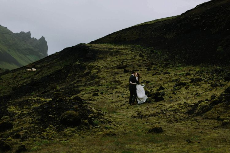 Icelandic Wedding near Vik. This wedding is chock full of amazing pieces of Iceland from white churches, to black sand beaches. Photographed by Levi Tijerina.