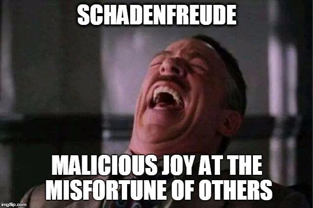 Image result for schadenfreude meme