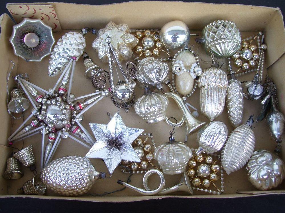 Alter weihnachtsschmuck christbaumschmuck glas kugel for Antike weihnachtsdeko