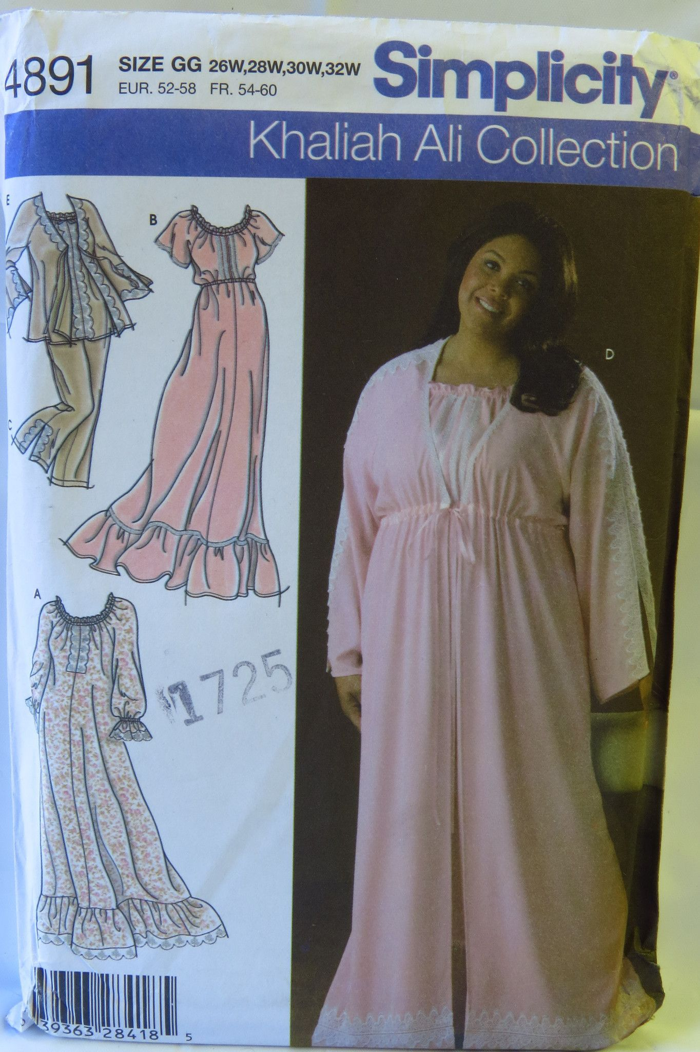 Simplicity 4891 Women s and Women s Petite Nightgown 989c50cd34