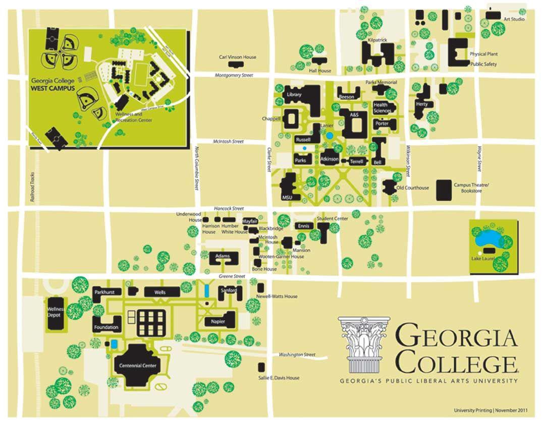 Campus Map College Pinterest