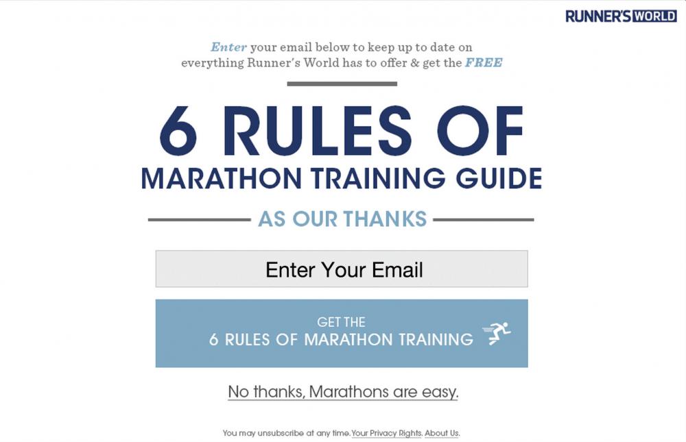 No thanks. Marathons are easy