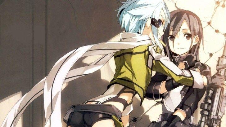 Kirito Sinon Gun Gale Online Anime Picture 1920x1080