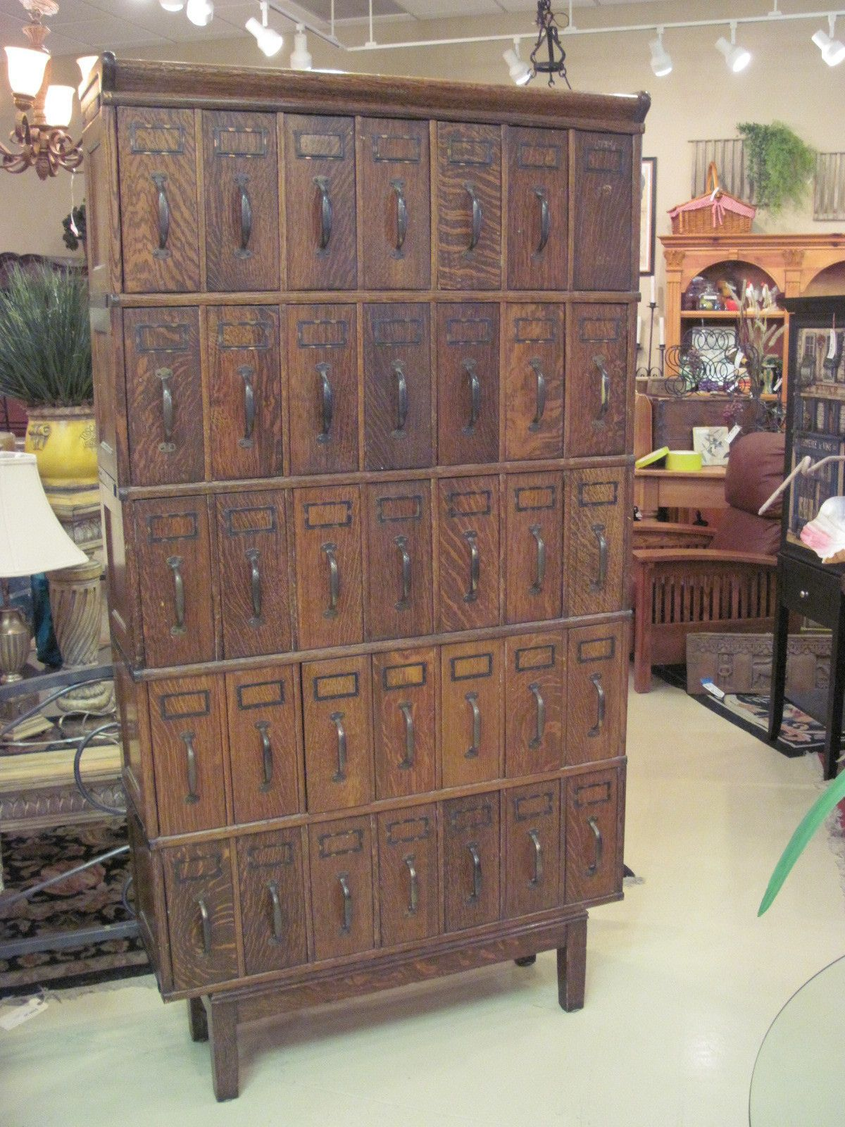 absolutely love. antique lawyer's filing cabinet .. could use for crafts,  sewing, etc.... 9/2013 - Antique Oak Lawyer's Filing Document Cabinet - Globe Company