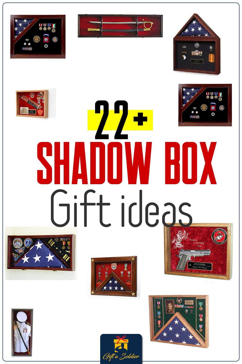 Military Shadow Box gift ideas in 2020 Military shadow