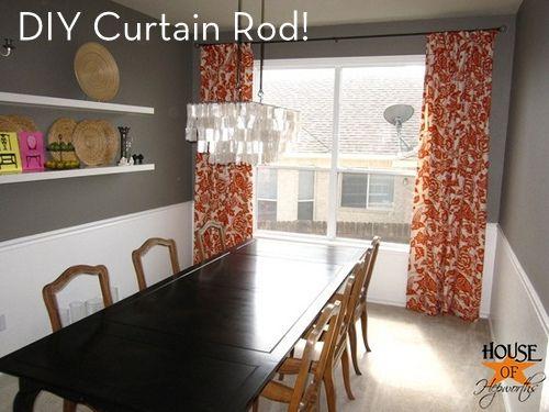 Diy Curtain Rod For Under 10 Decoracion De Unas Decoraciones